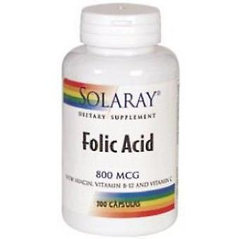 Solaray Folic Acid 800 mg 100 Capsules