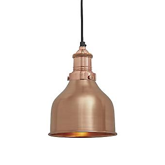 Brooklyn Vintage Small Metal Cone Pendant Light - Copper - 7