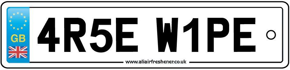 Arse Wipe Numberplate Car Air Freshener