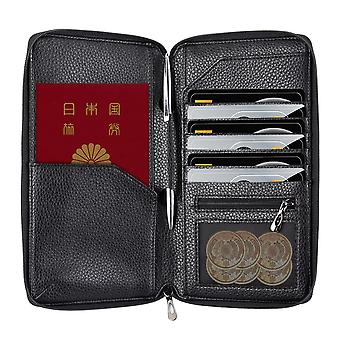 InventCase PU Leather RFID Blocking Passport / ID Card / Money Wallet Organiser Holder Case Cover for Japan / Japanese Passports - Black