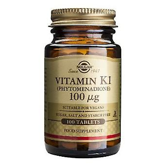 Solgar Vitamin K Natural 100 mcg 100 Tablets (Vitamins & supplements , Vitamins)