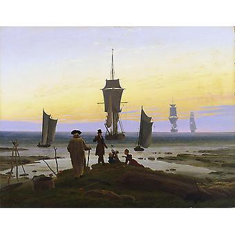 Caspar David Friedrich - The Life Stages Poster Print Giclee