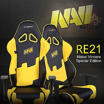 DX Racer DXRacer OH/RE21/NY/NAVI High-Back Racing Seat Gaming Chair PU(Black/Yellow)