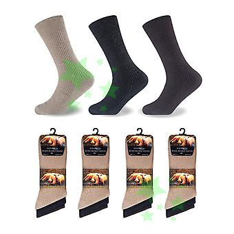 12 Pairs Non Elastic Mens Lamb Wool Blend  Socks UK 6-11 Size Extra Warm