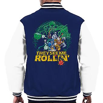They See Me Rollin Dungeons And Dragons Men's Varsity Jacket