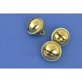 SALE -  100 Gold 24mm Cat Bell Style Jingle Bells for Crafts
