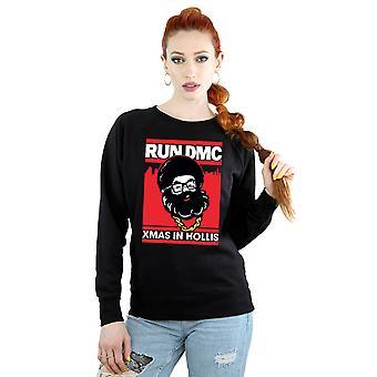 Run DMC Women's Santa Christmas Sweatshirt