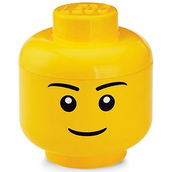 Opbergbox Lego head boys small