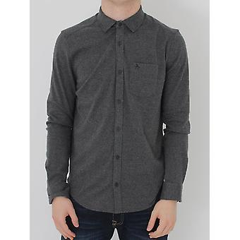 Penguin L/S Knitted Nep Shirt - Charcoal