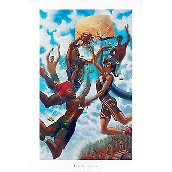 In the Sky Poster Print by Justin Bua (24 x 36)