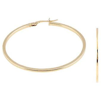 9ct 375 Gold Ladies Womens Large Hoop Solid Fine Earrings Height 38mm