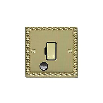 Hamilton Litestat Cheriton Georgian Polished Brass 1g 13A Fuse + CO PB/BL