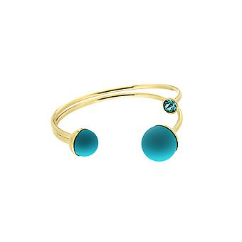 Sweet Deluxe Gold Bracelet With Blue Bobble