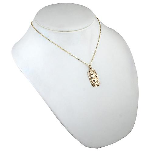 9ct Gold 33x17mm Cancer Zodiac Pendant with a belcher Chain 18 inches