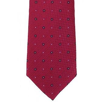 Michelsons of London Textured Flower Neat Silk Tie - Pink