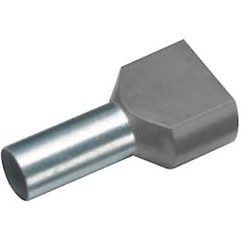 Twin ferrule 2 x 2.50 mm² x 10 mm Partially insulated Grey Cimco