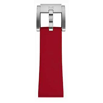TW Steel Marc Coblen Bracelet Watch band in silicone 22 MM rosso SB_R_S