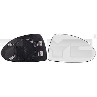 Right Mirror Glass (heated) & Holder For VAUXHALL CORSA Mk3 2006-2014