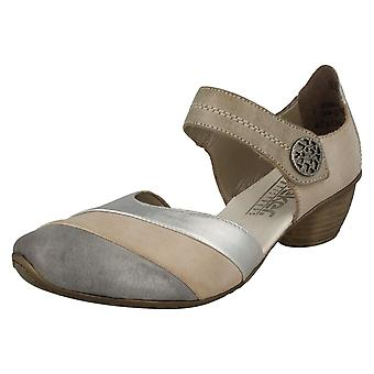 Ladies Rieker Heeled Casual Shoes 43790