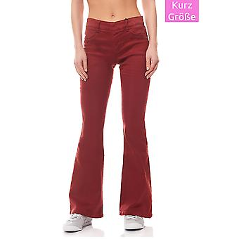 Pants Stretch trousers ladies red short size Laura Scott