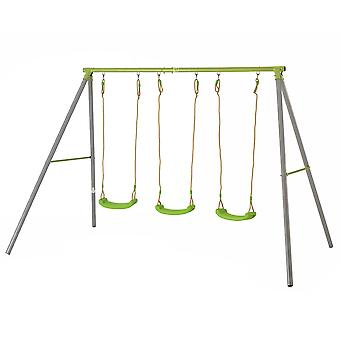 TP Toys Triple Metal Swing Set Lime Green Seats 3 - 12 years