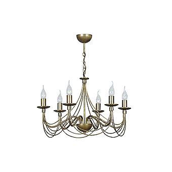 Emibig Lighting Sonnet 6 Gold Ceiling Chandelier Light Fixture