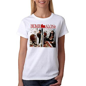 Home Alone Tree Booby Trap Women's White T-shirt