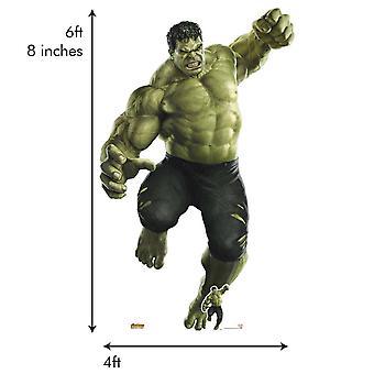 De Hulk Avengers Infinity War reus kartonnen uitsnede / Standup