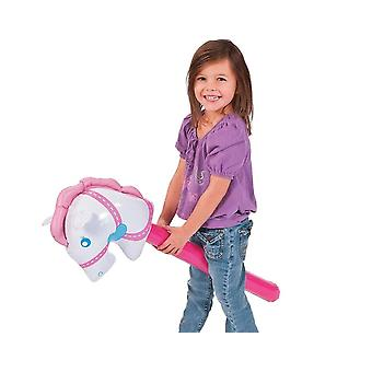 Inflatable Pink Hobby Horse for Kids | Christmas Party Bag Fillers Favours