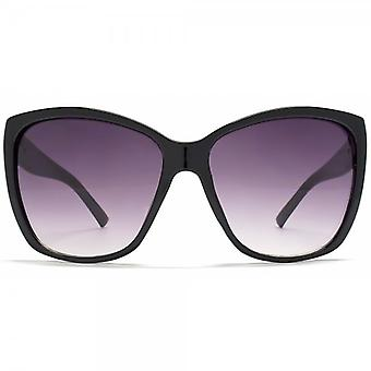 STORM Byblis Oversize Flared Square Sunglasses In Black