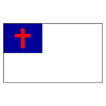 Christian Flag 5ft x 3ft With Eyelets For Hanging
