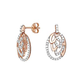 ESPRIT women's earrings silver Rosé cubic zirconia nature Glam ESER91936A000