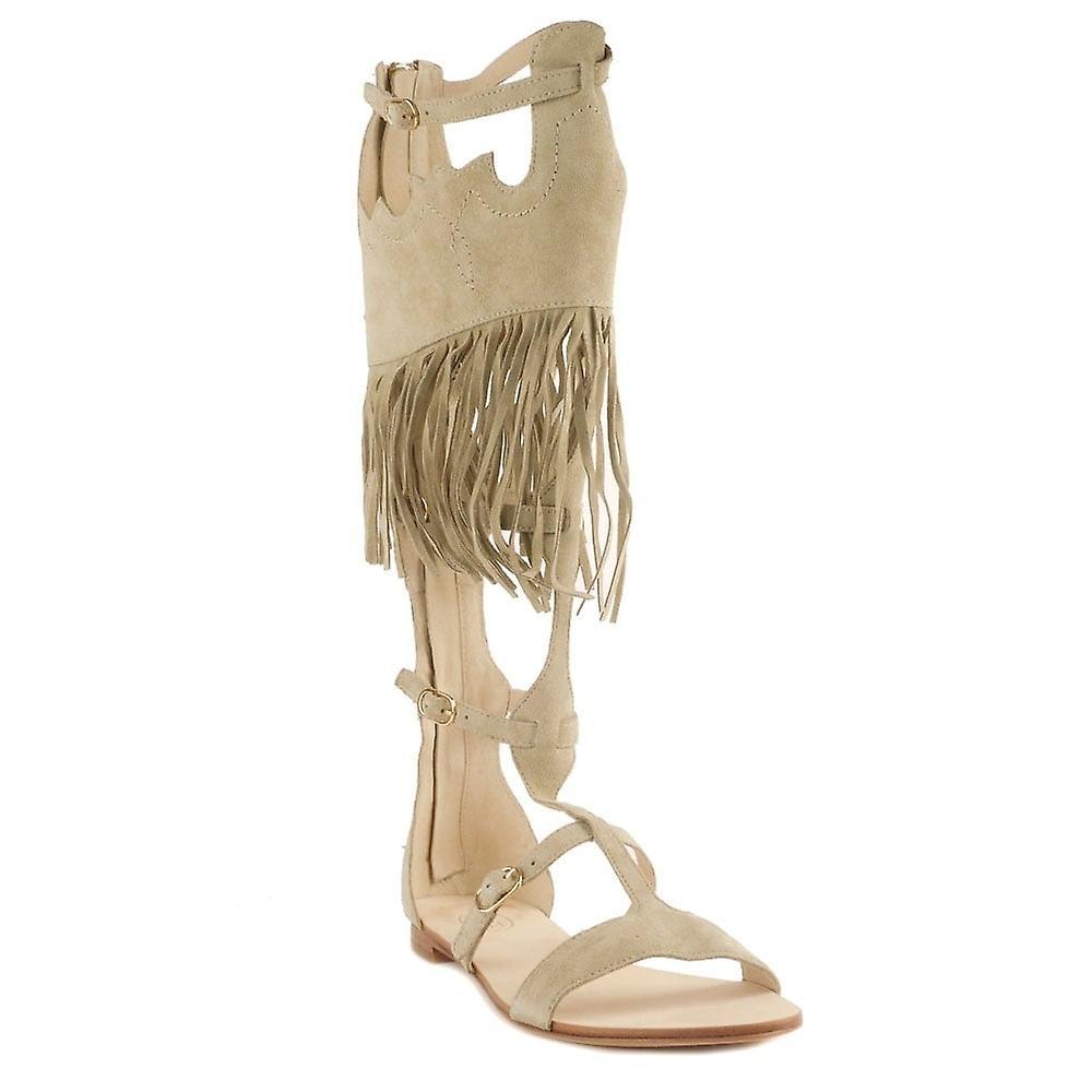 Ash Fringed Sandal Footwear Margot Beige SraSq
