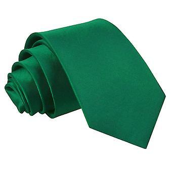 Emerald Green Plain Satin regelmäßige Krawatte für jungen
