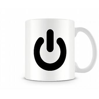 Power Button Printed Mug