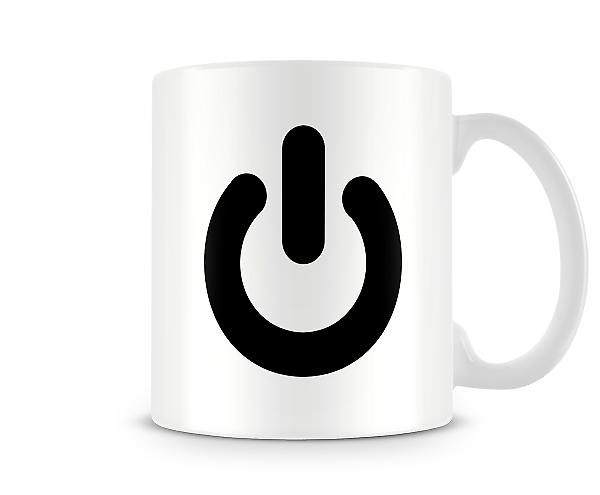 Power Button Printed Mug