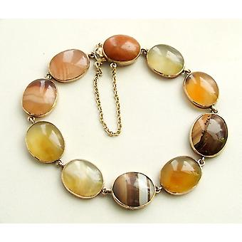 Yellow Gold Bracelet with agate