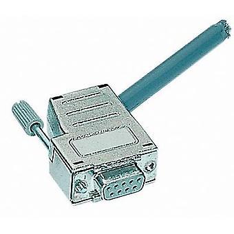D-SUB abritant nombre de broches: 9 métallisées en plastique, 180 °, 45 ° Silver Harting 09 67 009 0435 1 PC (s)