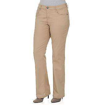 sheego, stretch trousers, casual look, plus size long size beige