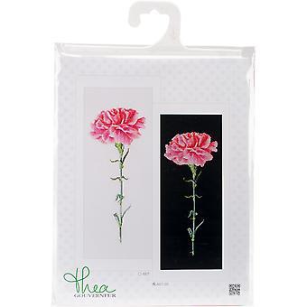 Carnation Pink On Aida Counted Cross Stitch Kit-6.5