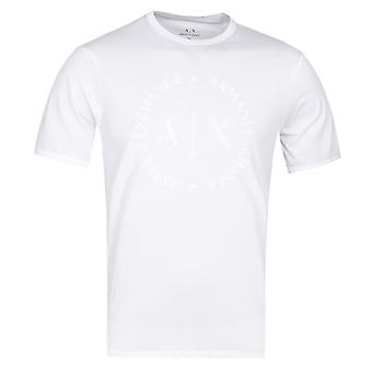 Armani Exchange White Circle Logo Tee