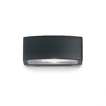 Ideal Lux Andromeda Modern Matt Black Outdoor Wall Light