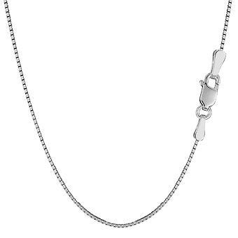 Sterling sølv Rhodium belagt afkrydsningsfeltet kæde halskæde, 1,3 mm