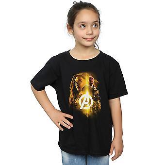 Marvel Avengers Infinity Krieg Vision Hexe Mädchenmannschaft bis T-Shirt