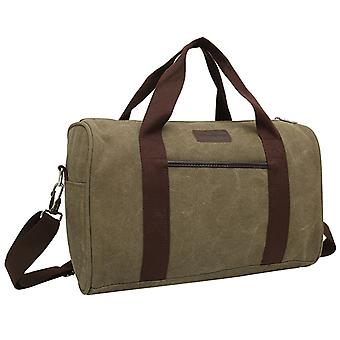 Olive green sports bag or weekend bags made of durable fabric