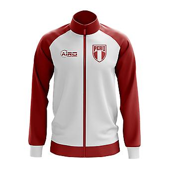 Peru koncept fodbold Track jakke (hvid)