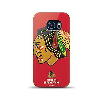 Mizco Sports NHL Oversized Snapback TPU Case for Samsung Galaxy S5 (Chicago Blac