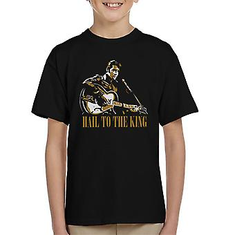 Hail To The King Elvis Presley Kid's T-Shirt