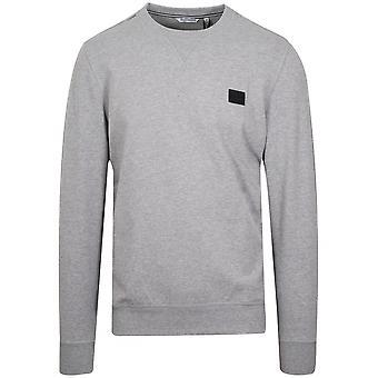 Antony Morato Antony Morato Grey Plaque Logo Crew Neck Sweatshirt