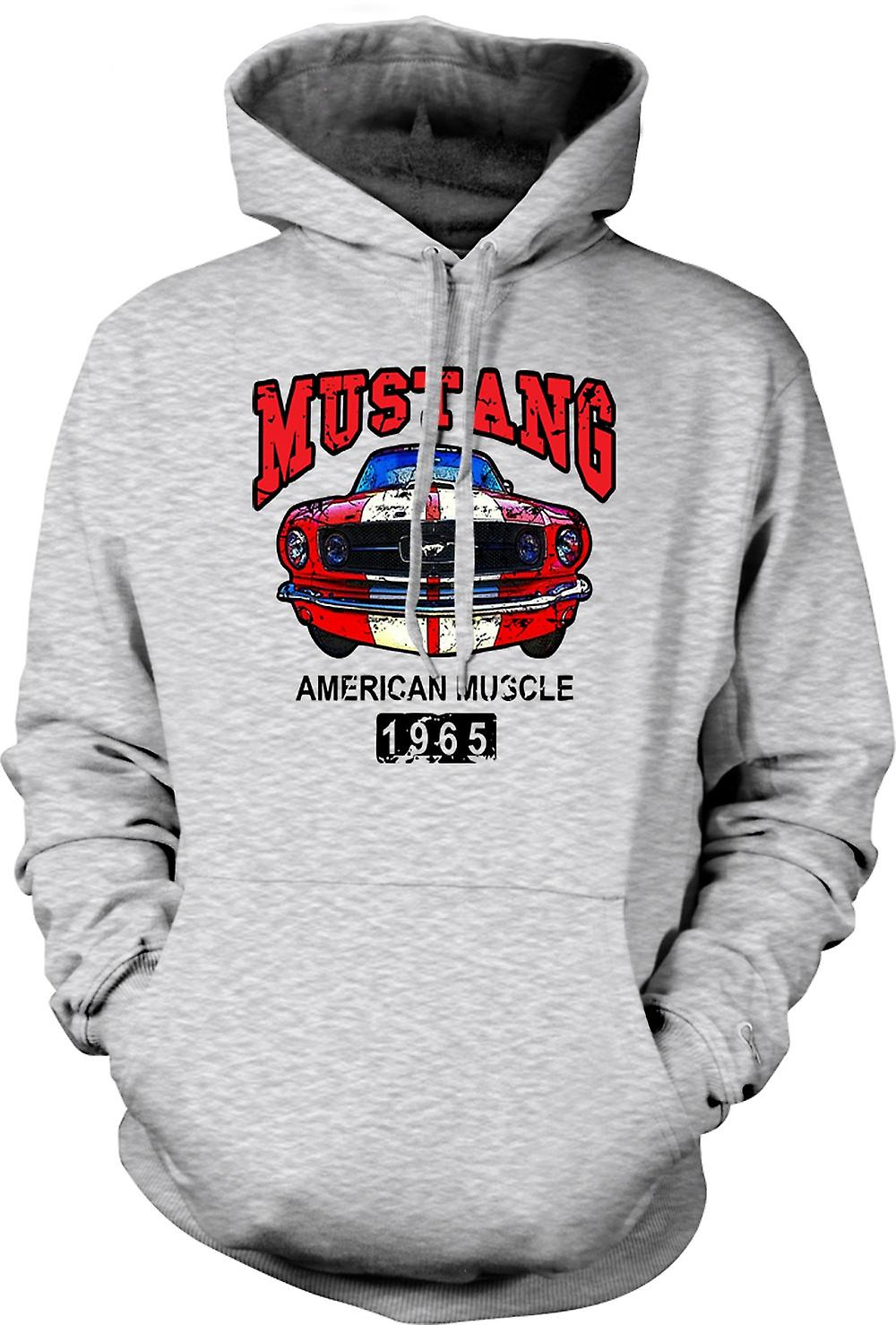 Mens Hoodie - Mustang 65 Muscle - Car - Classic US Car